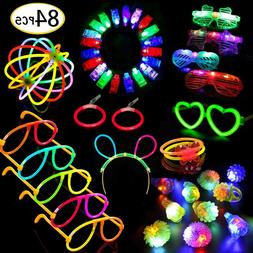 Glow Sticks Bulk In The Dark Finger Lights For Kids Music Fe