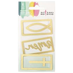 American Crafts 3 Piece Gold Metal Thin Clip Creative Devoti