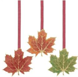 Golden Fall Leaves 24in Dangling Cutouts 3ct - Free Shipping