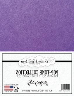 Grape Jelly Purple Cardstock Paper - 8.5 x 11 inch 100 lb. H