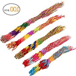 Cosweet 100 Pcs Handmade Friendship Bracelets Cords for Kids