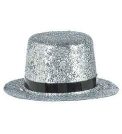 Top Hat Silver Glitter Mini  Per Amazon Combined Package Sal