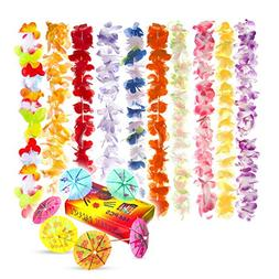 Premium Hawaiian Leis  Bulk Necklaces Set for Kids and Adult