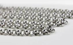 in bulk 5 Meters Silver Stainless Steel 6mm Round Rolo Chain