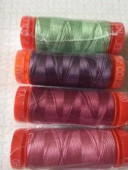 AURIFIL in SPRING - Quilting Cotton asst colors 50 wt 220 yd