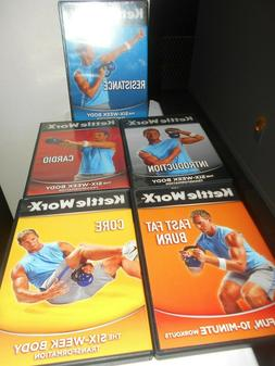 KETTLEWORX  7 DVD SET 3 NEW SEALED/ 4 in VG CONDITION FREE S