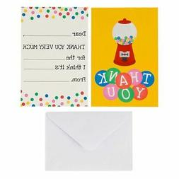 Kids Thank You Cards - 48-Count Fill in Thank You Notes, Bul