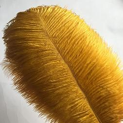 """KOLIGHT20pcs Ostrich Feather Gold 12""""-14"""" Natural Feathers W"""