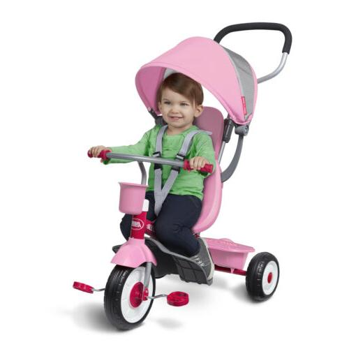 4-in-1 Radio Kids Girls Tricycle Ride