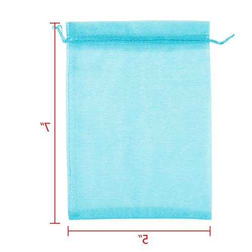 "Boshen Gift Candy Sheer for Christmas 3""x4"" 5""x7"" , Teal Blue)"