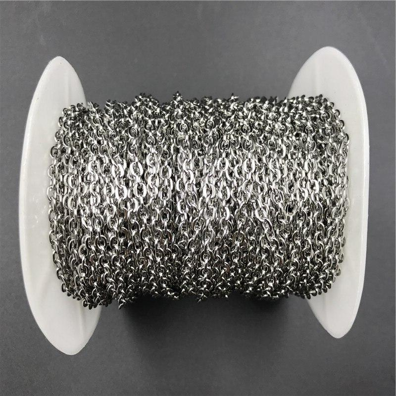 10meters/<font><b>roll</b></font> Width 2mm 3mm Stainless Steel <font><b>Bulk</b></font> Metal for Jewelry Making