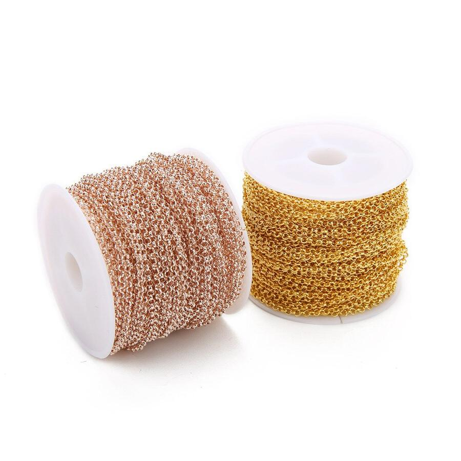 Ckysee 10Yards/<font><b>Roll</b></font> O Gold Metal Iron For Diy Jewelry Making