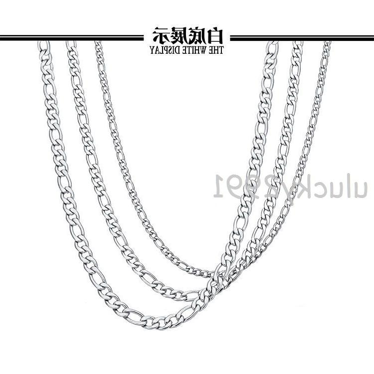 "16""-36"" Silver Stainless Steel Necklace In Bulk"