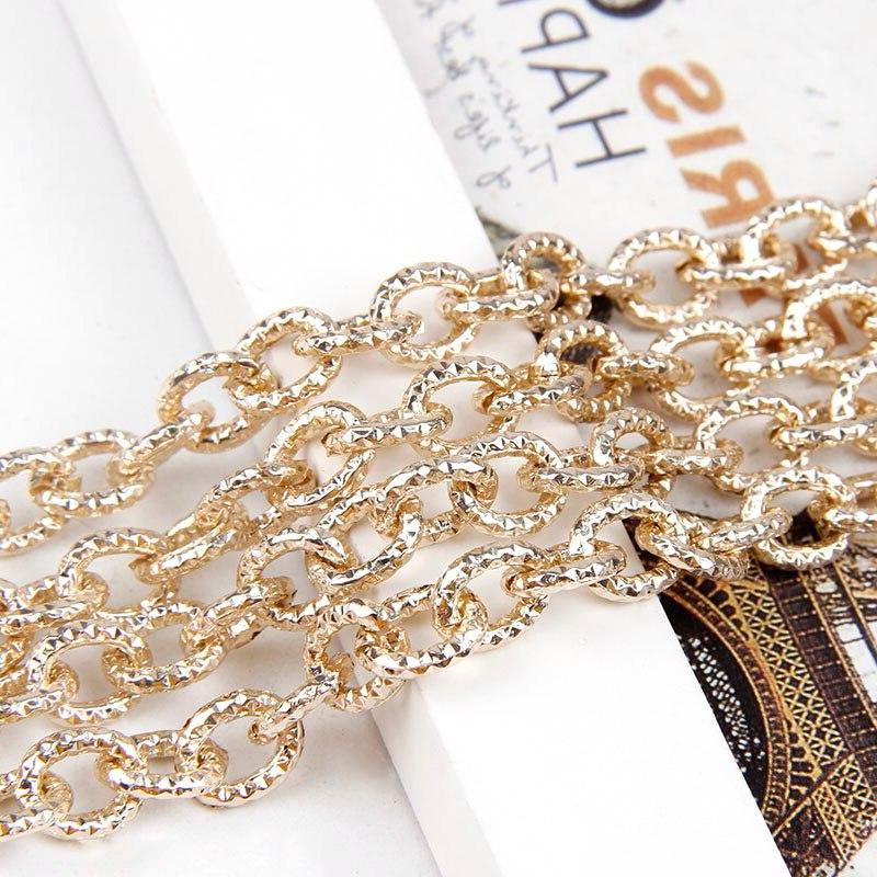 1Meters Rose Oval Fit Bracelets Link Chain For Jewelry Making Bag