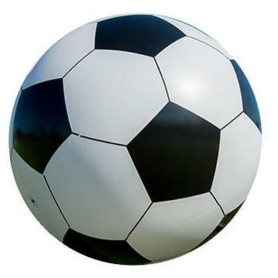 2 inflatable white soccer ball 10 in