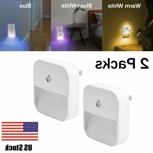 2 pack plug in led night light