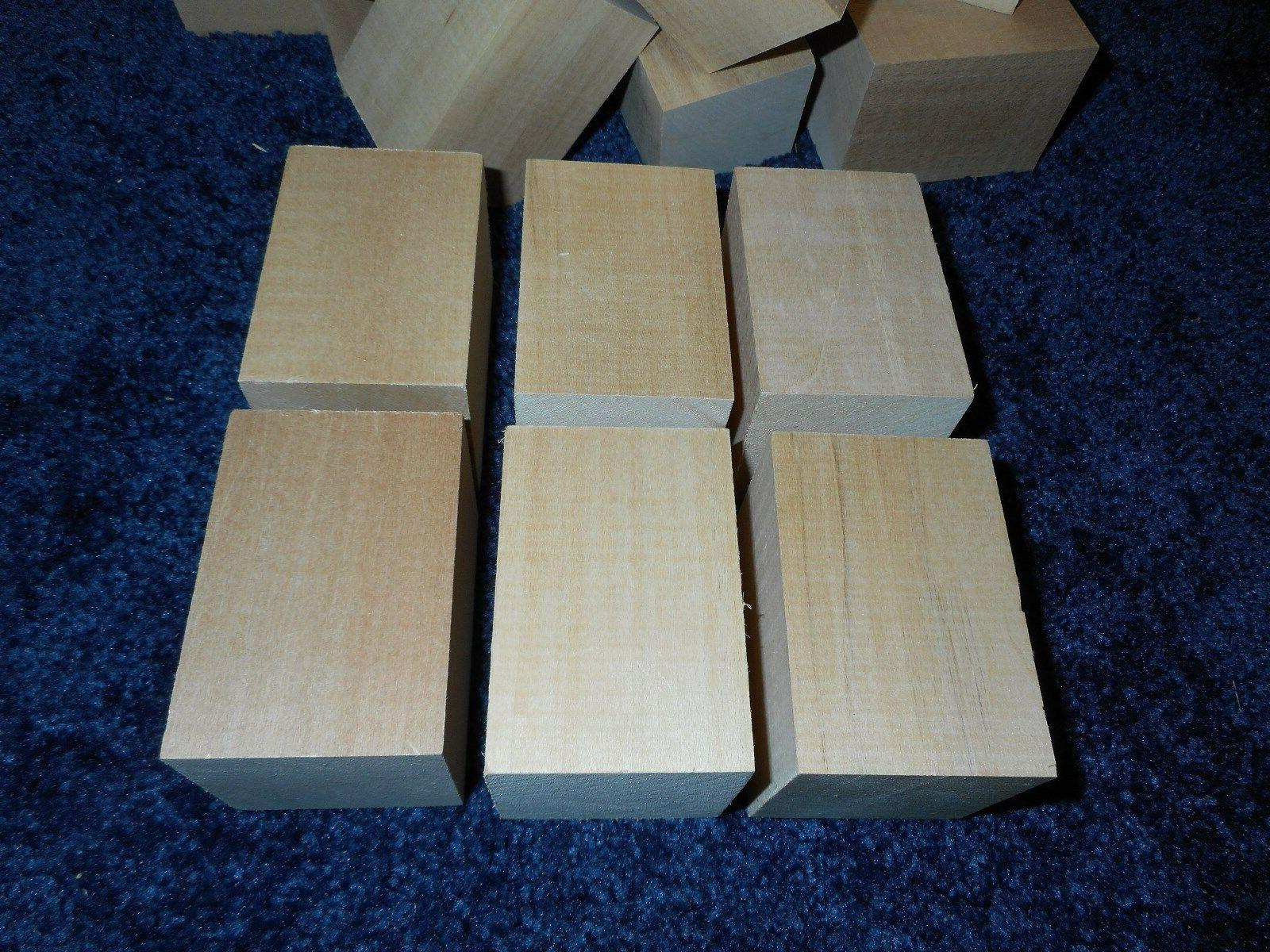 "2"" x 3"" Basswood Carving Blocks Craft Lumber DRIED* IN BULK"