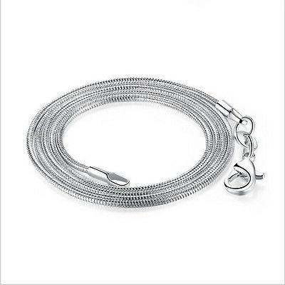20'' Bulk 100pcs plated snake Chain
