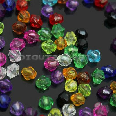 200Pcs 4mm Colors Mixed Acrylic Bead Crafts In