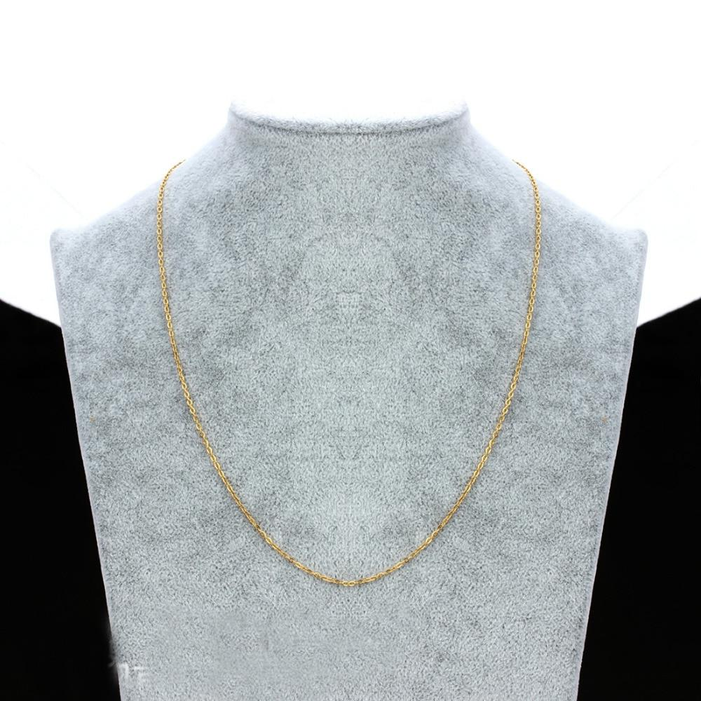 """Granny Chic 16""""-30"""" <font><b>Gold</b></font> Stainless Steel Rolo Weld Chain Necklace Jewelry"""