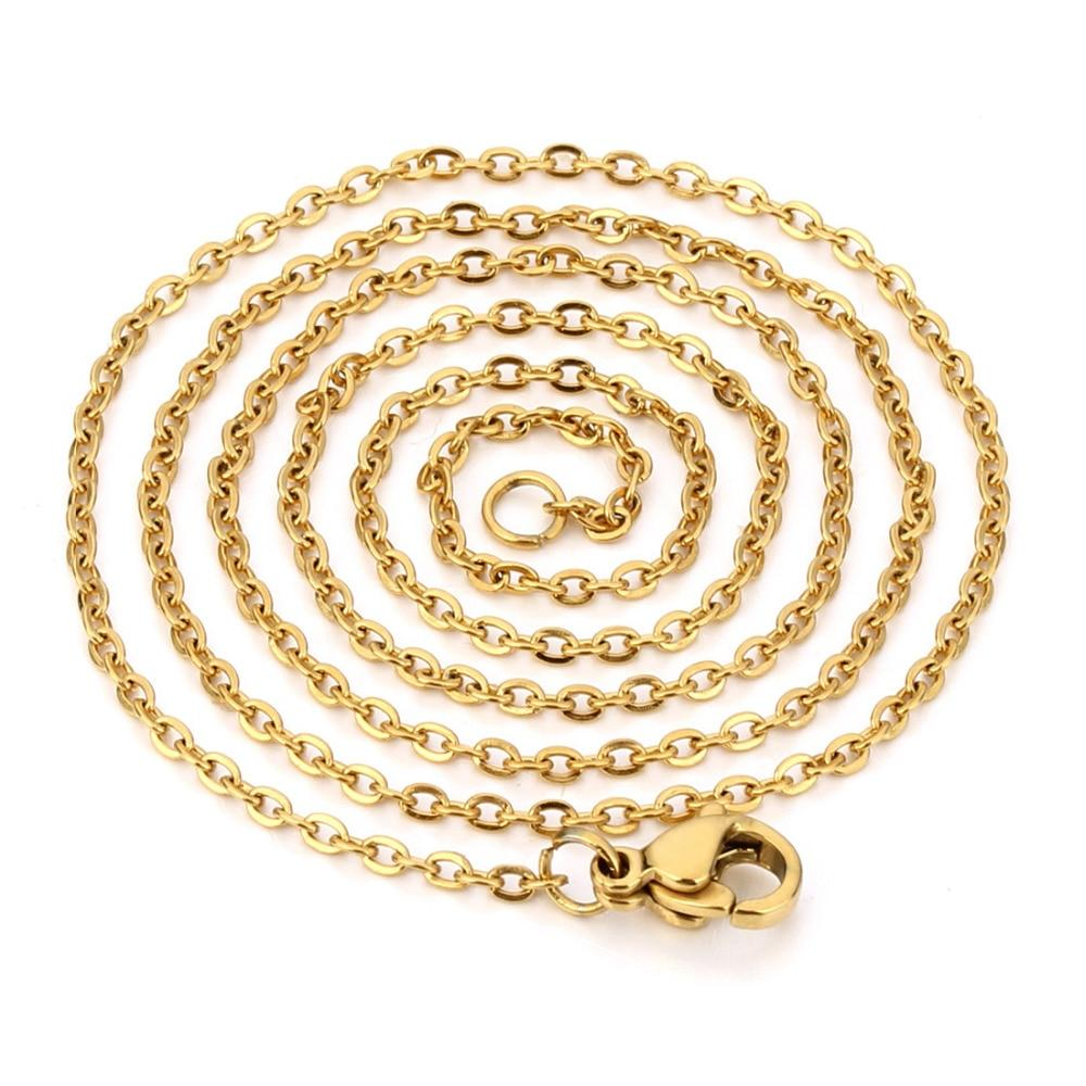 """Granny 16""""-30"""" Hot Selling <font><b>Gold</b></font> <font><b>in</b></font> Steel Rolo Necklace Wholesale Jewelry"""