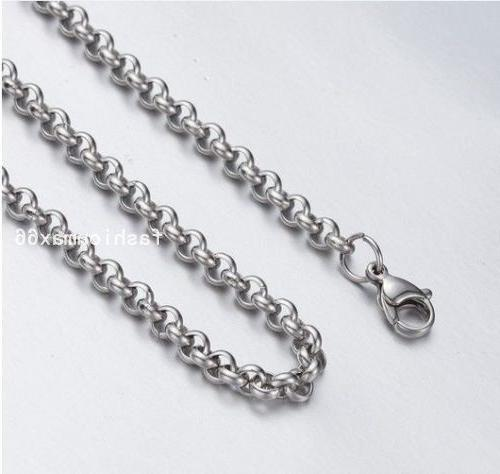 20pcs Silver Stainless Steel Round Rolo