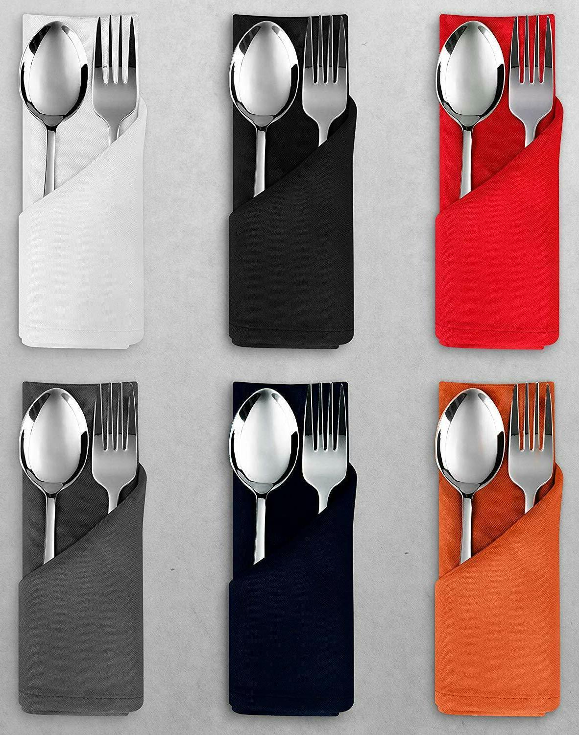 24 pack cloth napkins 17x17 inches dinner