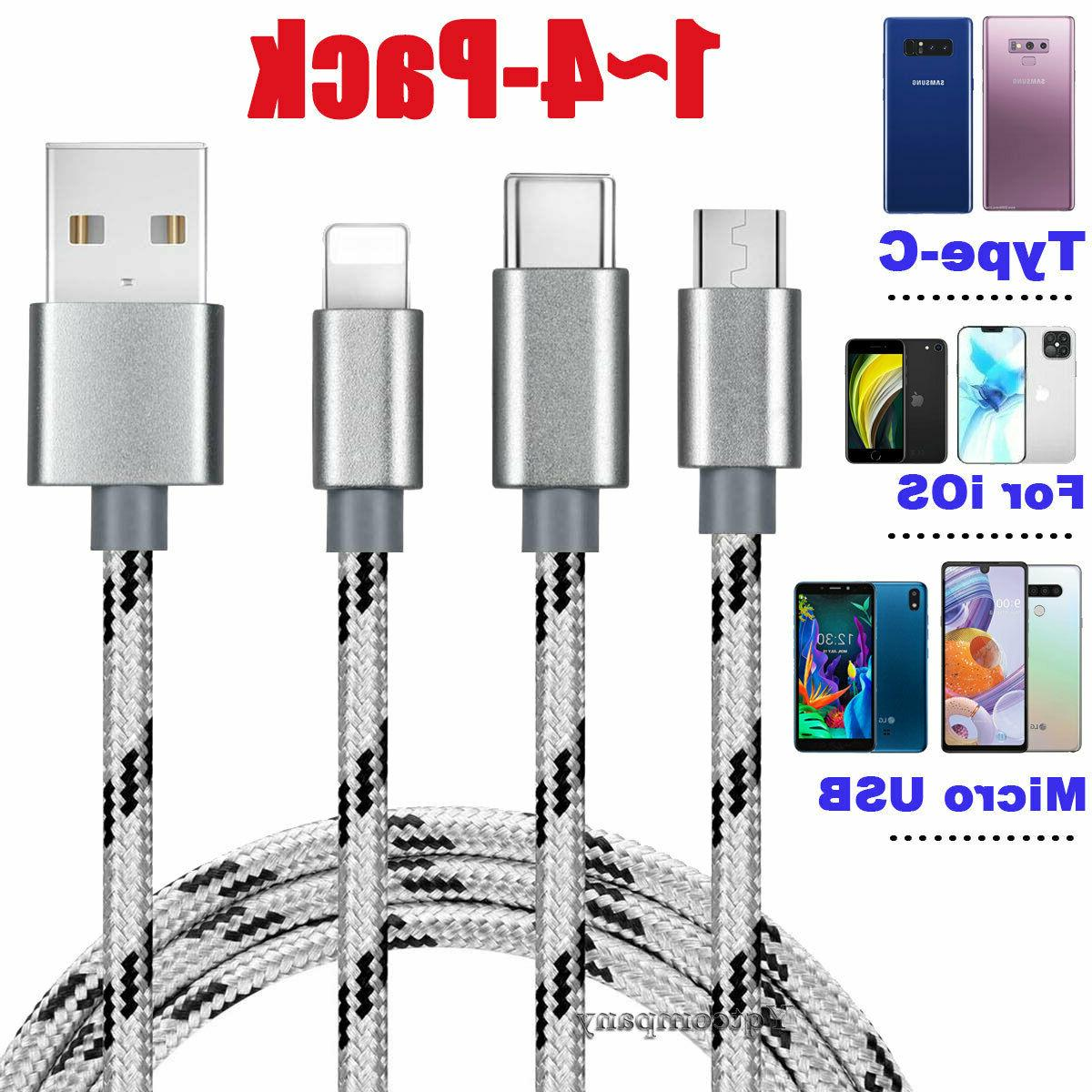 4 pack fast charge micro usb cable