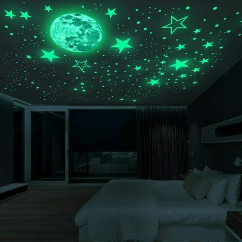 435Pcs In The Dark Luminous Planet Stickers Decal