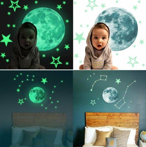 435Pcs In Dark Moon Planet Space Kid Stickers Decal