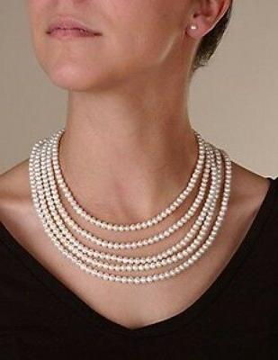 8-8.5mm High Pearl Endless Necklace 100 inches
