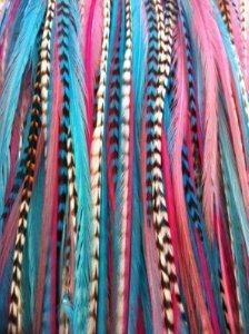 "Feather Hair Extension 6""-11"" Gorgeous Light Pink Grizzly ,T"