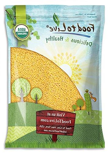 Organic Hulled Millet by Food to Live