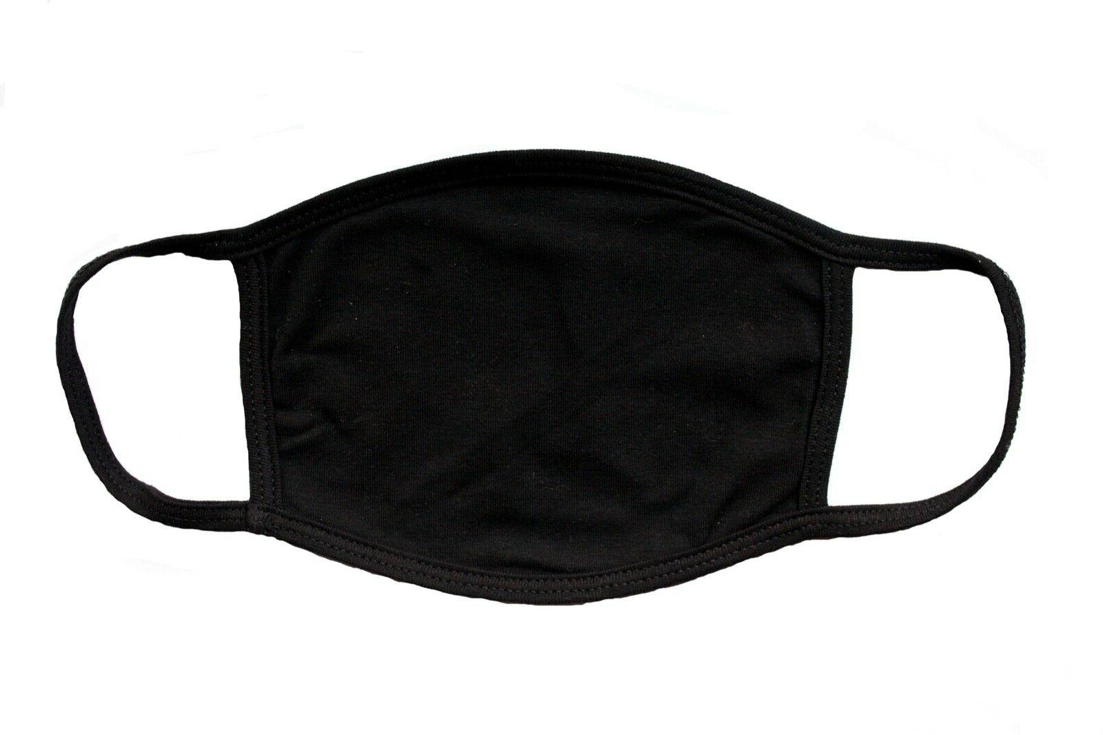 adult blank black face mask for face