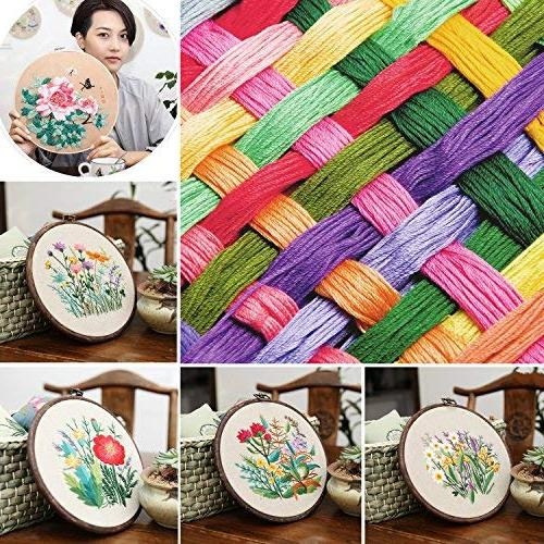 Embroidery Thread 100pc - Cotton Embroidery Yarn Cross craft floss, thread Assorted colors, Bulk Friendship