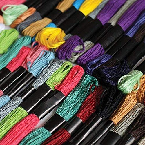 Embroidery & Floss 100pc 8m Cotton Cross stitch threads craft beading thread Assorted colors, Friendship Skeins Pack