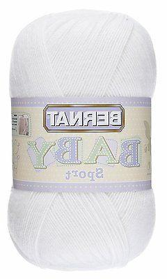 Bernat Baby Big Ball Sport Yarn, Solid, 12.3 Ounce, Baby Whi