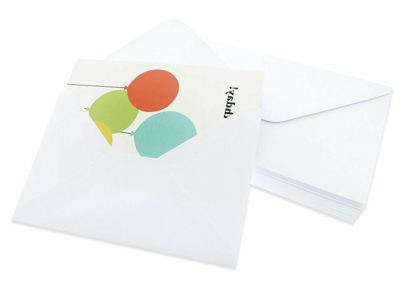 """Birthday 48 Pack Box Set Happy Bright Party Designs Envelopes In 4x6"""""""
