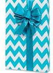 blue white chevron stripe gift