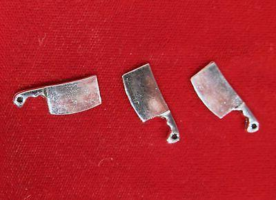 bulk 30pc kitchen knife charms in silver