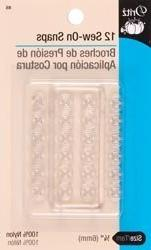 "Bulk Buy: Dritz Clear Nylon Sew On Snaps 1/4"" 12 sets/Pkg 85"