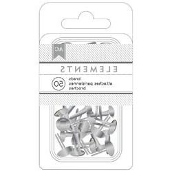 Bulk Buy: American Crafts  Elements Brads .1875in. 50/Pkg Si