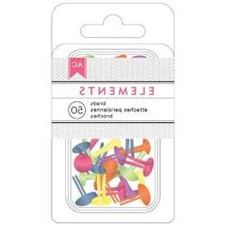Bulk Buy: American Crafts  Elements Brads .1875in. 50/Pkg Br