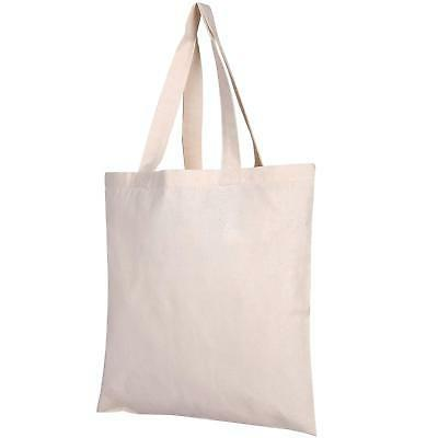 25 Pack Bulk Cotton Canvas Tote Bags Reusable Grocery Shoppi