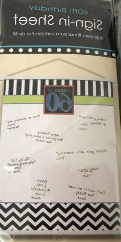 Celebrate 60th Birthday Hanging Scroll Sign in Sheet Lot Of