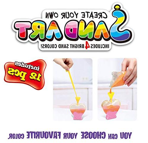 12 Create Own Sand Art Kits | Bottles, Bags of Sand Ideal Arts and Crafts, Schools, Party