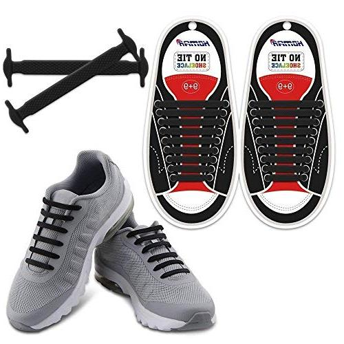 elastic athletic flat tie shoelaces