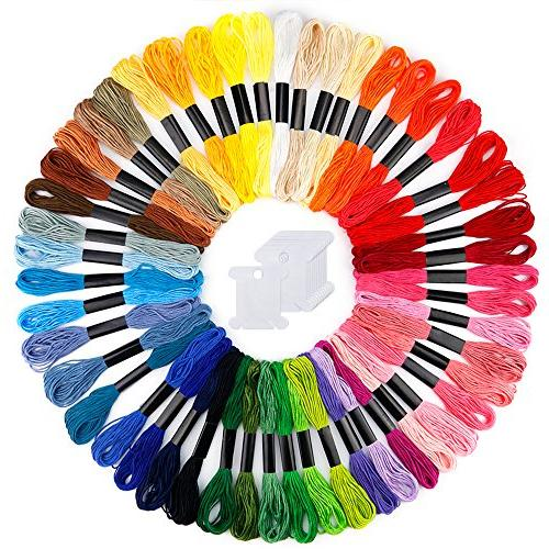 embroidery floss 50 skeins rainbow