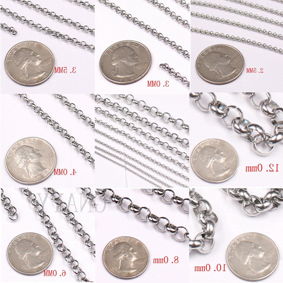 Silver Rolo Chain DIY Jewelry Making In Bulk