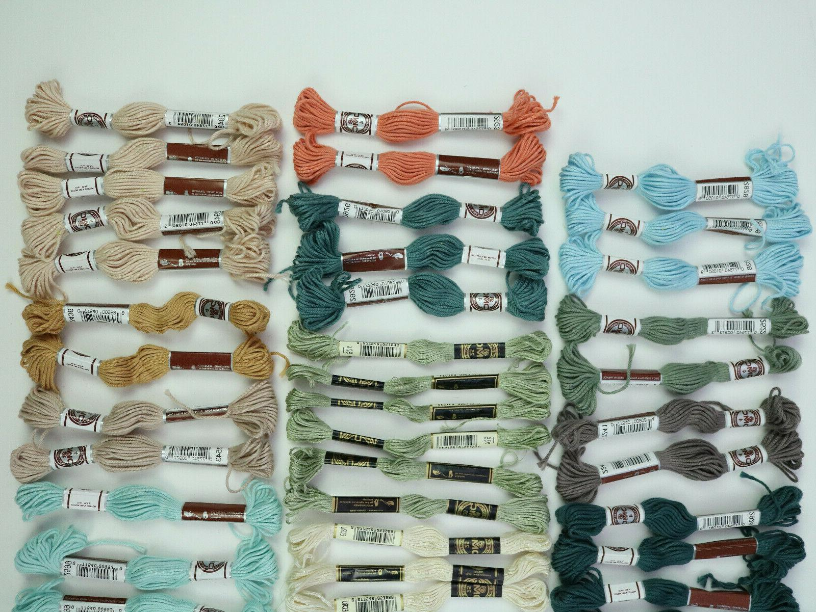 DMC Colors - Lot 63 Skeins Made in